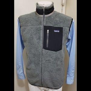 Patagonia Mens Retro XLarge Full Zip Gray Vest